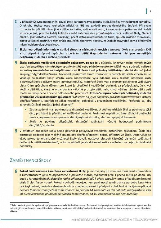 Manuál pro výuku na školách v době koronaviru - strana 7