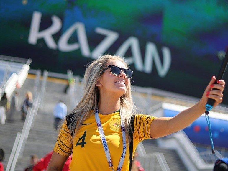 Australská fanynka. Fotbalové MS Rusko 2018