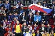 Česko - Švédsko: Fanoušci na tribuně