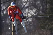 Aksel Lund Svindal na olympijských hrách v Pchjongčchangu kraloval sjezdu.