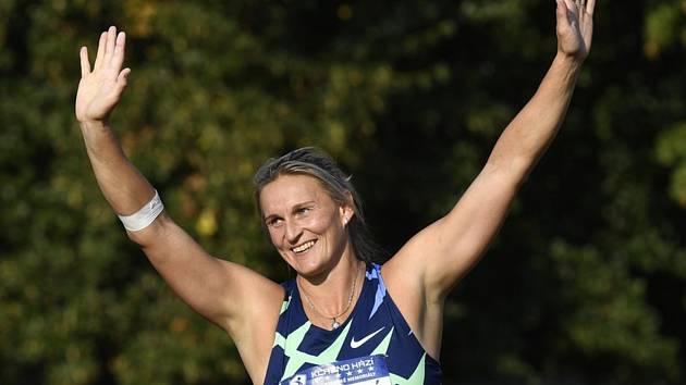 Atletický mítink Kladno hází a Kladenské memoriály, 16. září 2020 v Kladně. Oštěpařka Barbora Špotáková.