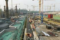 stavba nového letiště v Pekingu