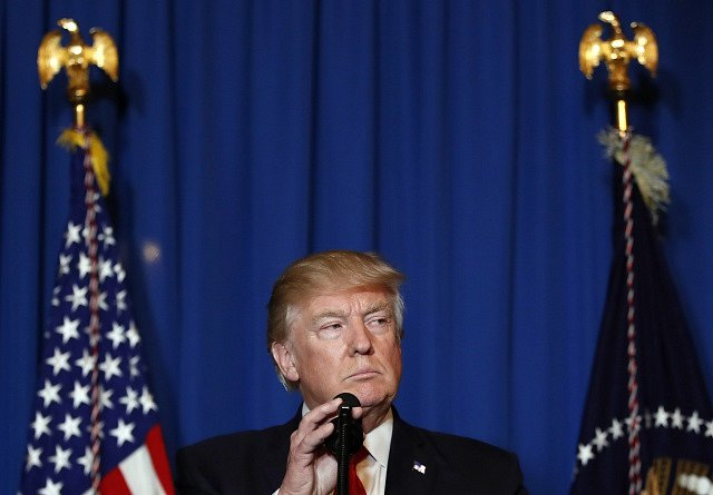 Spojené státy zaútočily na Sýrii. Na snímku americký prezident Donald Trump