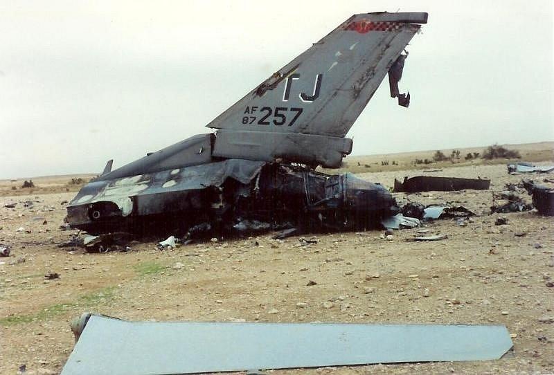 Sestřelená F-16C