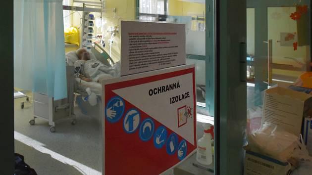 Covidové oddělení nemocnice v Sokolově