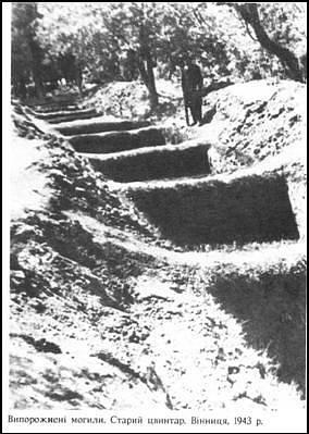 Odkryté masové hroby obětí masakru ve Vinnycji