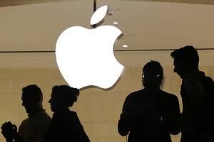 Logo americké technologické společnosti Apple.