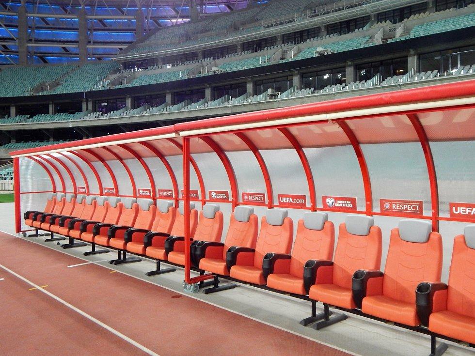 Stadion pojme takřka 70 tisíc fanoušků, ale vyprodáno tu neměli. Nejvíc lidí přišlo na zápas Karabach versus AS Řím - 67 000.