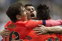 Barcelona v derby porazila Espaňol po brankách Neymara a Messiho