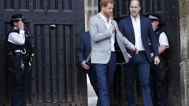 Princové Harry (vlevo) a William