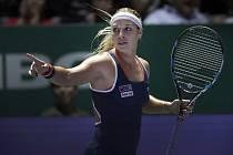 Dominika Cibulková v semifinále Turnaje mistryň.