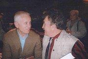 František Kolečkář s Josefem Mašínem při setkání v USA |