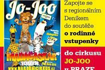 Zapojte se  s regionálním DENÍKEM do soutěže o rodinné vstupenky  DO CIRKUSU JO-JOO v PRAZE.
