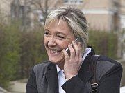ředsedkyně francouzské krajně pravicové strany Národní fronta (FN) Marine Le Penová.