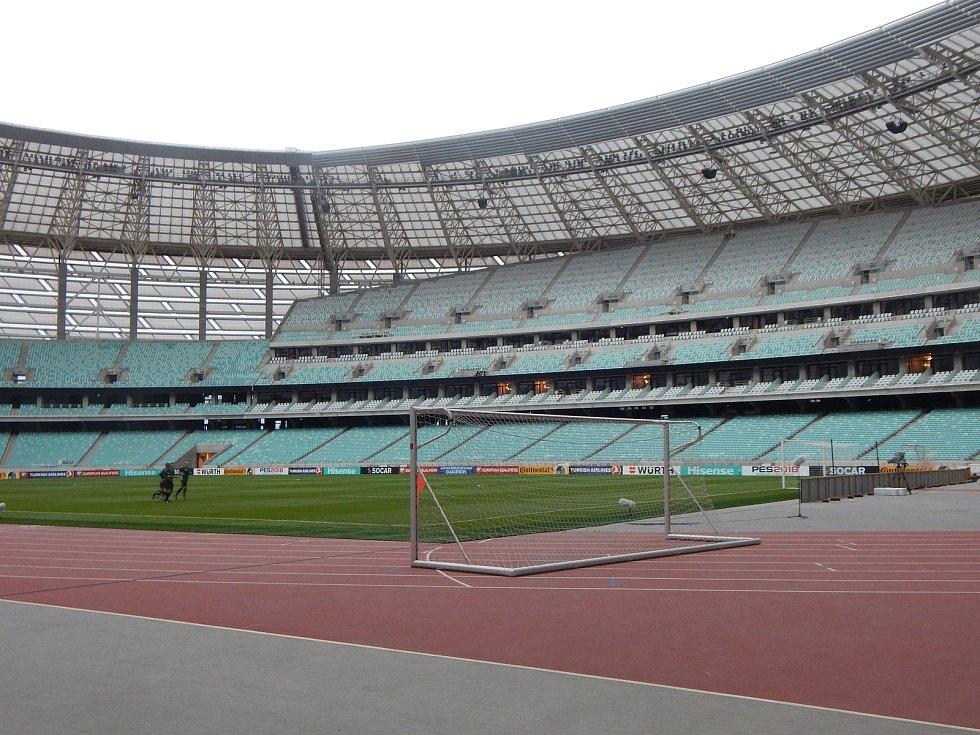 Momentky před fotbalovou kvalifikací: Ázerbájdžán - Česko