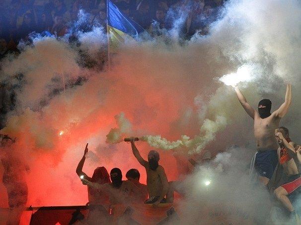 Snímek z finále poháru na Ukrajině
