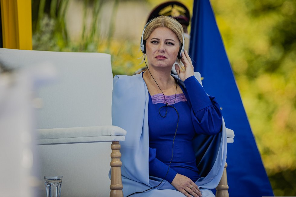Slovenská prezidentka Zuzana Čaputová při setkání s papežem Františkem