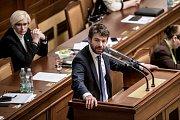 Jednání Sněmovny o žádost o vyslovení souhlasu s trestním stíhání poslanců Andrej Babiš a Jaroslava Faltýnka 19. ledna v Praze. Pelikán