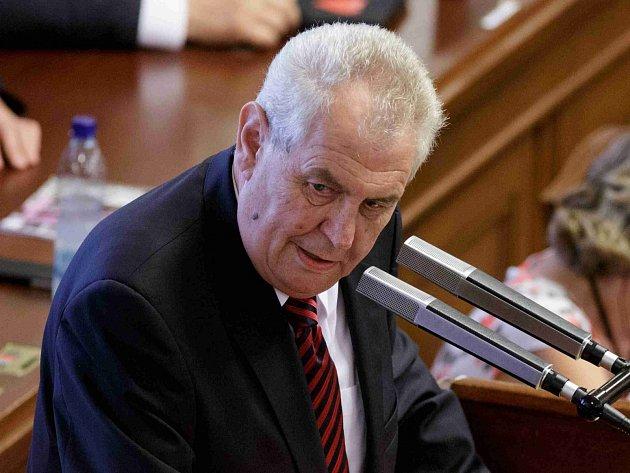 Miloš Zeman ve Sněmovně.