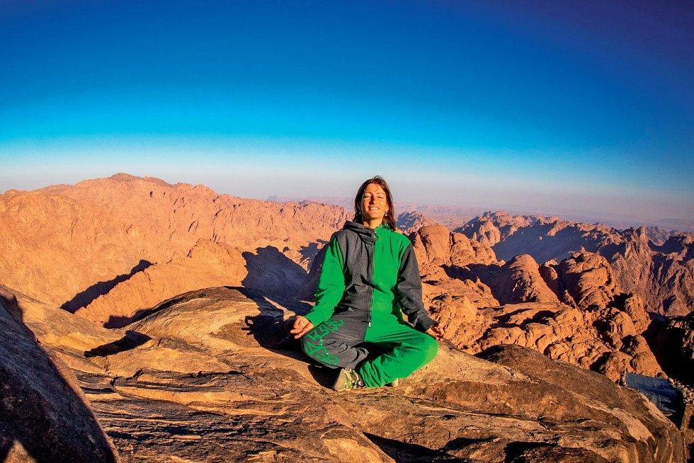 Ráno na vrcholu Mojžíšovy hory, Egypt