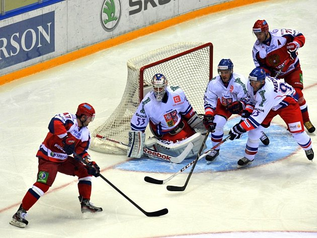 Alexander Radulov v zápase proti Česku