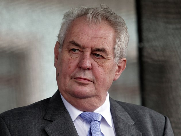 Prezident Miloš Zeman při návštěvě Brandýsa nad Labem.
