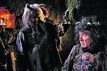 V nové pohádce Miloslava Šmídmajera Peklo s princeznou uvidíme i režiséra Miloše Formana (vpravo) – v čertovské roli. Na snímku s Borisem Hybnerem.