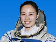 Čínská kosmonautka Wang Ja-pching.