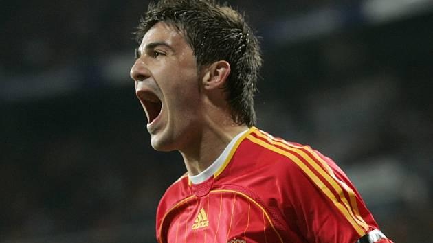 David Villa řádí i v národním dresu Španělska