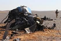 Část nalezeného ruského letadla.