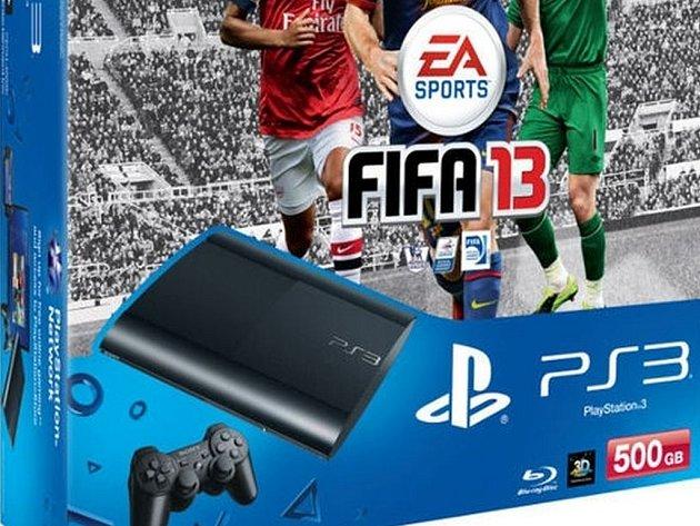 Balení nové konzole PS3 SuperSlim.
