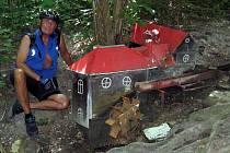 Petr Novotný na jednom ze svých cyklovýletů
