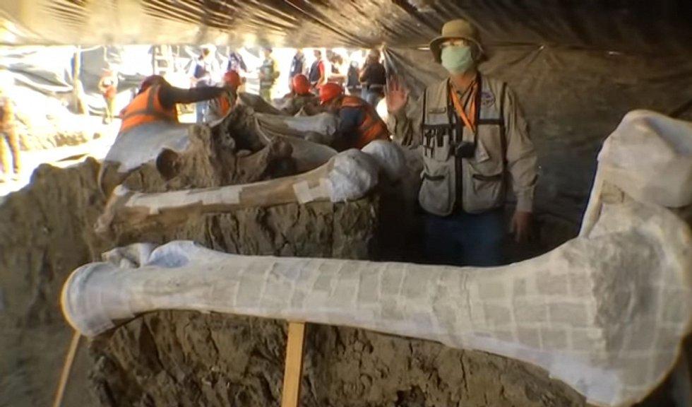Mexiko sesadilo z pozice největšího naleziště mamutích kostí oblast Hot Spring v Dakotě