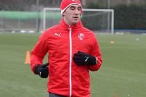 Aidin Mahmutovič na prvním tréninku Plzně