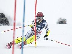 Ester Ledecká v kombinaci na mistrovství světa.