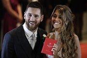 Lionel Messi s novomanželkou