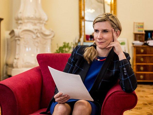 Ministryně školství Kateřina Valachová poskytla 9.února vPraze rozhovor Deníku.