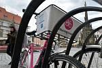 Sdílená jízdní kola Rekola v Olomouci.