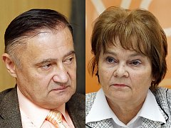 Sokové Vladimír Dryml a Hana Orgoníková. Senátor Dryml prý sháněl kompromitující materiál proti kolegyni Orgoníkové