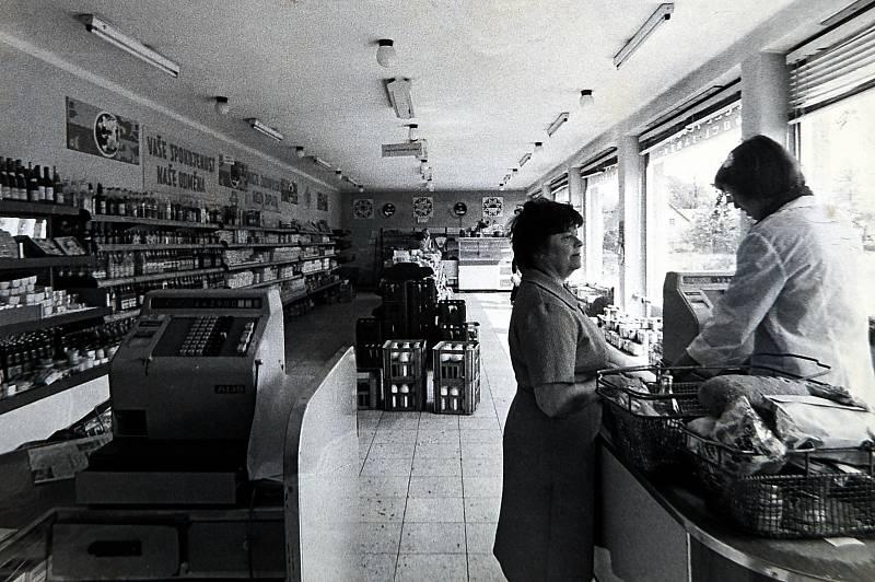 Prodejna potravin - tak se žilo v Hrádku