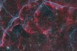 """Vědci objevili v antarktickém sněhu, napadaném za posledních 20 let, """"otisk prstu"""" po explodujících hvězdách nebo supernovách. Na snímku část zbytku supernovy Vela"""