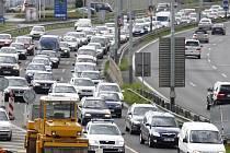 dopravní zácpa - ilustrační foto