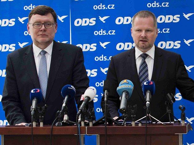 Zbyněk Stanjura a Petr Fiala