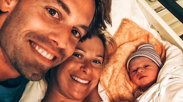 Andrea Sestini Hlaváčková s rodinou