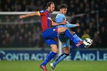 Crystal Palace vs. Manchester City: Glenn Murray (vlevo) a Martin Demichelis