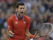 Novak Djokovič se v utkání proti Tomáši Berdychovi často rozčiloval.