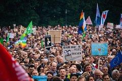 Demonstrace v Mnichově
