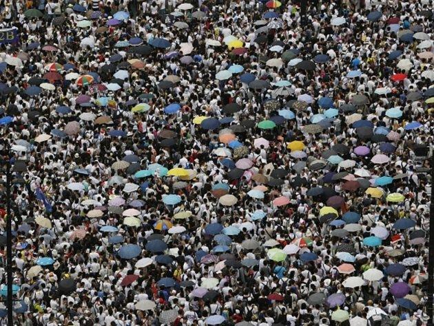 Demonstrace v Hongkongu.