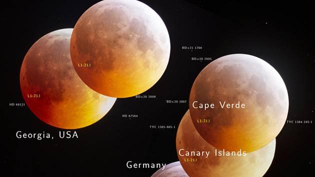 Americký Národní úřad pro letectví a vesmír (NASA) zveřejnil jako astronomickou fotografii dne Měsíc zobrazený ze sedmi míst na světě v době, kdy na jeho povrch 21. ledna 2019 dopadl asteroid. Na vzniku snímku se podíleli také Češi.
