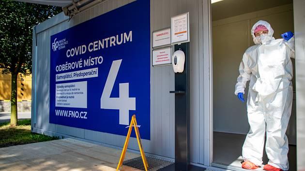 Fakultní nemocnice Ostrava otevřela 12. srpna 2020 nové covid centrum k odběru vzorků pro testování na nový typ koronaviru.